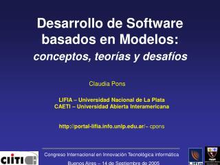Desarrollo de Software basados en Modelos:  conceptos, teorías y desafíos