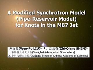 A Modified Synchrotron Model (Pipe-Reservoir Model)  for Knots in the M87 Jet