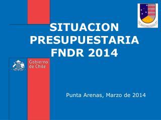 SITUACION PRESUPUESTARIA FNDR 2014