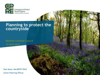 Planning to protect the countryside