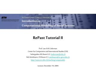 RePast Tutorial II