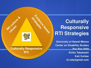 Culturally Responsive RTI Strategies