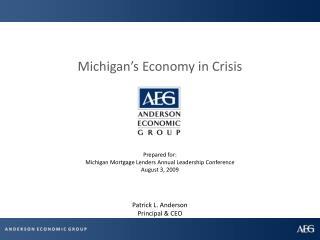 Michigan's Economy in Crisis