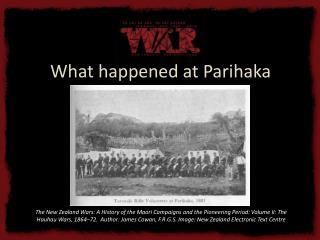 What happened at Parihaka