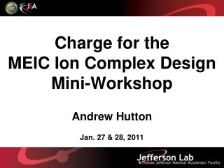 Charge for the  MEIC Ion Complex Design Mini-Workshop