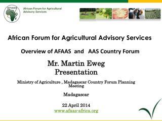 Mr. Martin Eweg Presentation