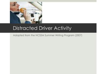 Distracted Driver Activity