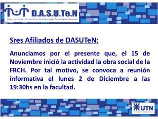 Sres Afiliados de DASUTeN: