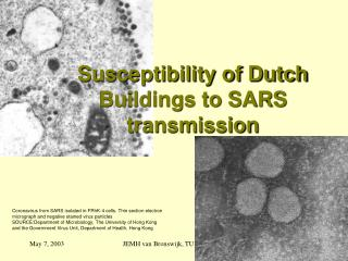 Susceptibility of Dutch Buildings to SARS transmission