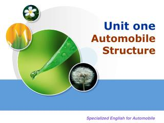 Unit one Automobile Structure