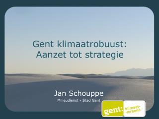 Gent klimaatrobuust: Aanzet tot strategie