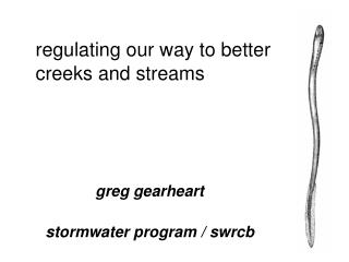 regulating our way to better creeks and streams
