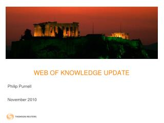 WEB OF KNOWLEDGE UPDATE