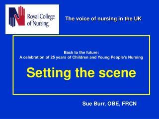 Sue Burr, OBE, FRCN