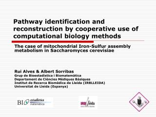 Pathway identification and reconstruction by cooperative use of computational biology methods