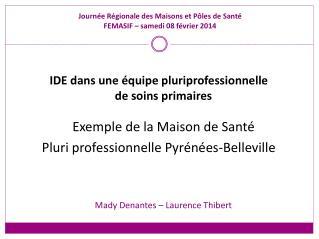 Journée Régionale des Maisons et Pôles de Santé FEMASIF – samedi 08 février 2014