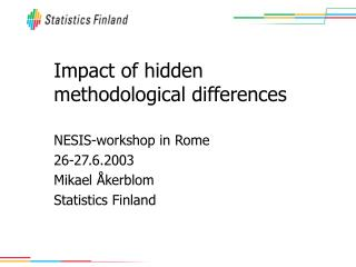 Impact of hidden methodological differences