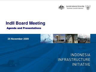 Agenda and Presentations