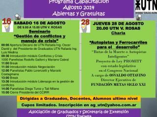 Asociación de Graduados y Secretaria de Extensión  UTN Rafaela