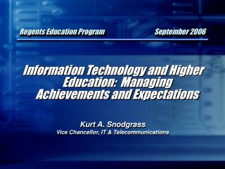 Regents Education Program September 2006