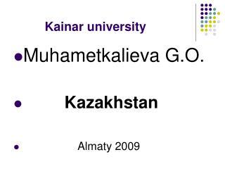 Kainar university
