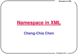 Namespace in XML