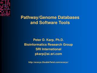 Pathway/Genome Databases and Software Tools