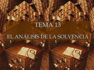 TEMA 13 EL ANÁLISIS DE LA SOLVENCIA