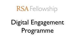 Digital Engagement Programme
