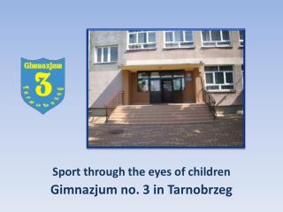 Sport through the eyes of children Gimnazjum no. 3 in Tarnobrzeg