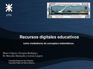 Recursos digitales educativos