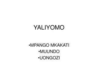 YALIYOMO