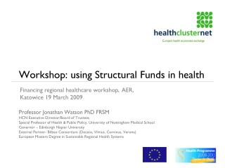 Workshop: using Structural Funds in health