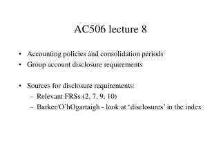 AC 506  lecture  8
