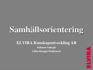 Samh�llsorientering