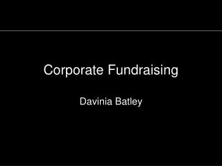 Corporate Fundraising
