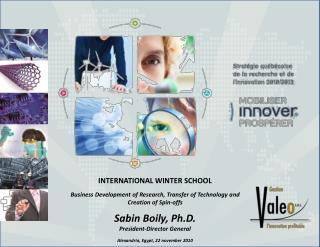 INTERNATIONAL WINTER SCHOOL