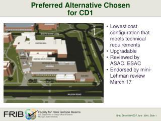 Preferred Alternative Chosen for CD1