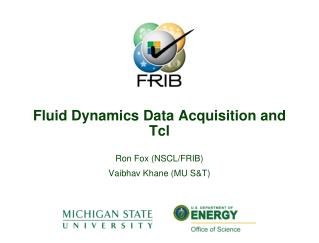 Fluid Dynamics Data Acquisition and Tcl