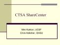 CTSA ShareCenter