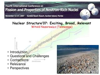 Nuclear Structure'07: Exciting, Broad, Relevant Witold Nazarewicz (Tennessee)