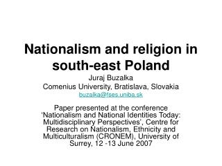 Religion and nation