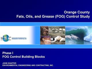 Orange County Fats, Oils, and Grease (FOG) Control Study
