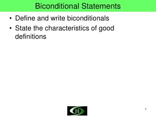 Biconditional Statements