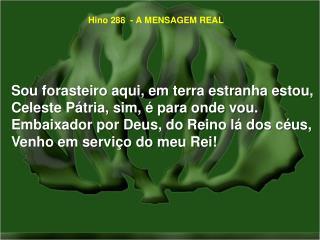 Hino 288  - A MENSAGEM REAL