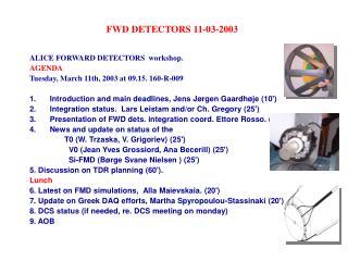 FWD DETECTORS 11-03-2003