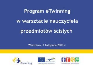 Program eTwinning  w warsztacie nauczyciela przedmiotów ścisłych