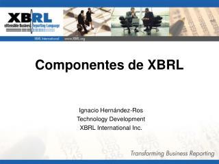 Componentes  de XBRL