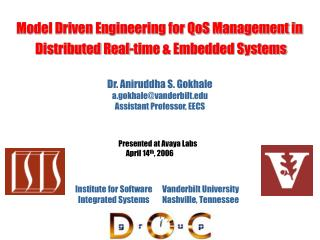 Model Driven Engineering for QoS Management in  Distributed Real-time & Embedded Systems