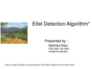 Eifel Detection Algorithm*